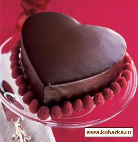 Как торт в форме сердце своими руками