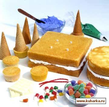 Торт-замок своими руками