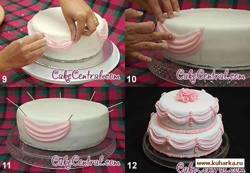 Фото мастер класс тортов из мастики