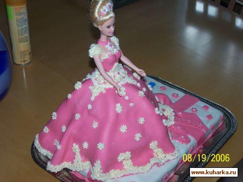 Торт кукла с мастикой своими руками