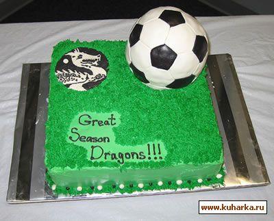 торт с футбольным мячом фото