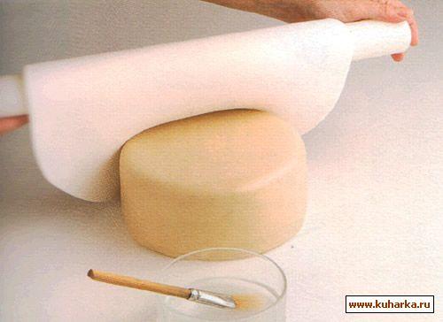 Покрытие торта мастикой и марципаном
