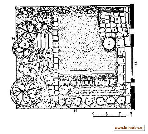 Фрагмент планировки садового