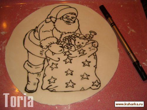 Торт с рисунком своими руками 88