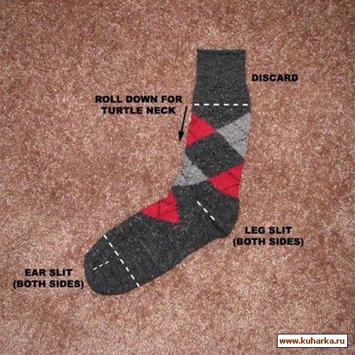 Как Вы думаете, что можно сделать из обычного носка?  Все фото этой новости здесь.