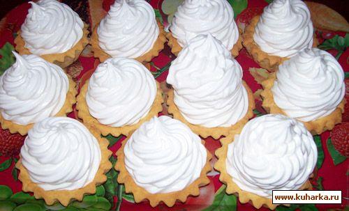рецепты корзиночек тарталетки с суфле белковым кремом
