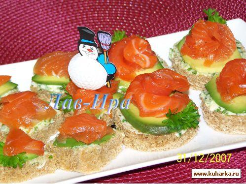 Бутерброд с семгой и лимоном рецепт с