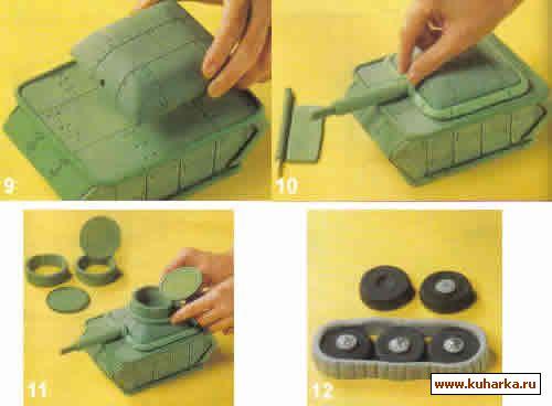 Торт танк с танкистом внимание все