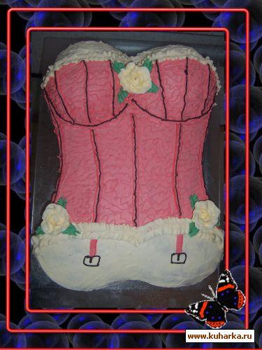 Торт корсет из крема фото