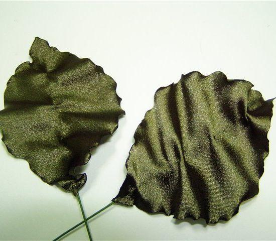 Как сделать листик из ткани своими руками 19