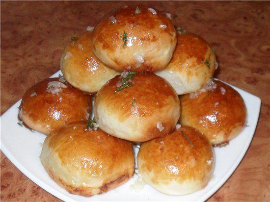 Пампушки с луком рецепт с фото