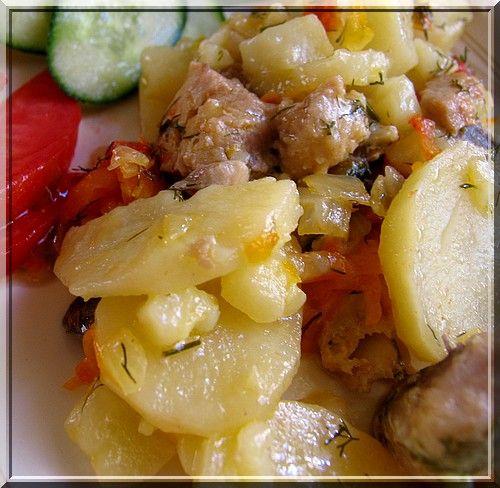Пангасиус запеченный с картофелем