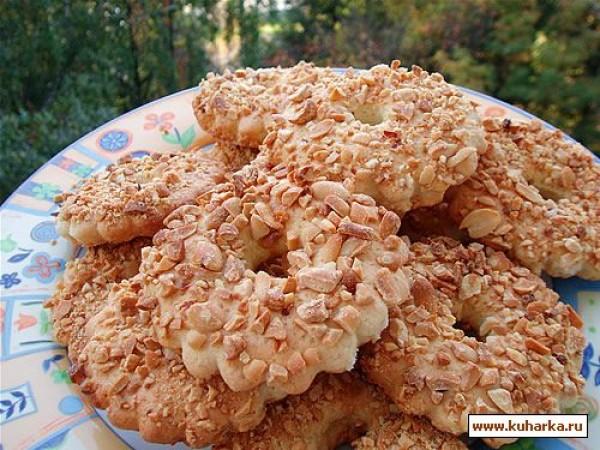 песочное печенье с арахисом рецепт с фото