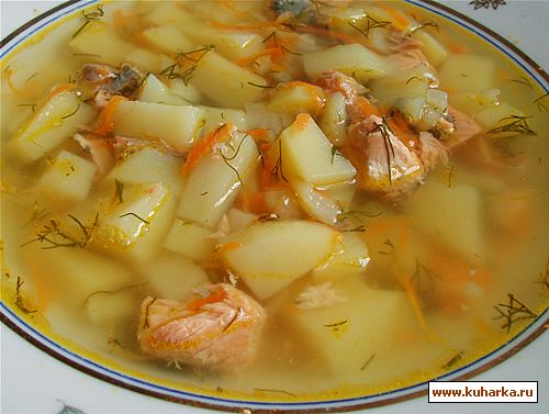 Рецепт Суп из консервированного лосося