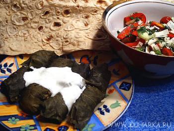 Рецепт Толма в виноградных листьях по-еревански