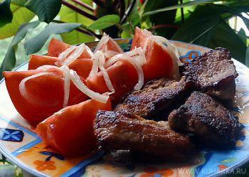 Рецепт Жареная маринованная свинина