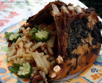 Рецепт Шалаш из бараньей корейки