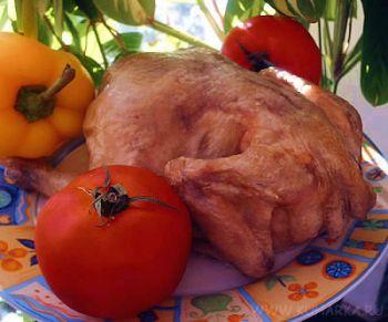 Рецепт Курица на соли