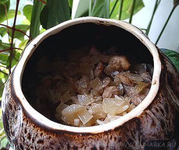 Рецепт Курица с рисом в горшочках