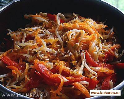 Рецепт Салат из ростков сои