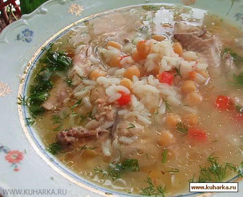 Рецепт Шорба с курицей по-болгарски