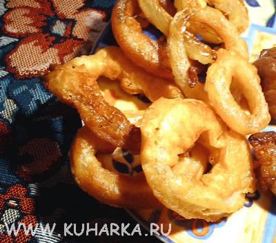 Рецепт Луковые колечки в кляре