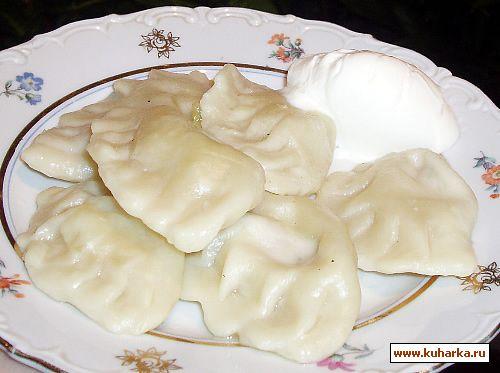 Рецепт Вареники с сырой картошкой