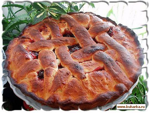 Рецепт Пирог с вишневым конфитюром