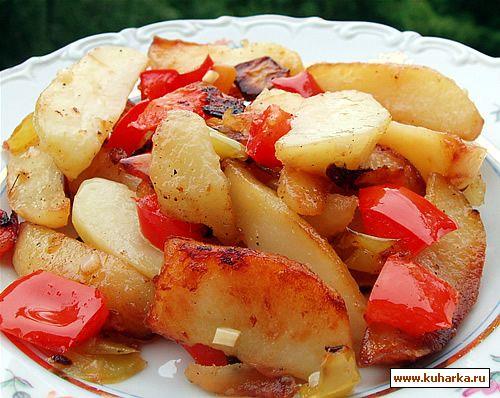 Рецепт Жареные картофельные дольки