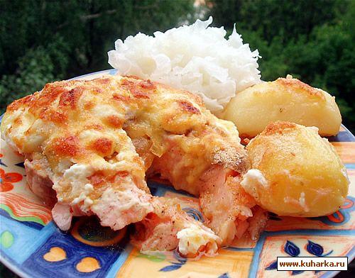 Рецепт Рыба запеченная по-московски