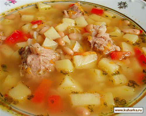 Рецепт Пикантный суп с фасолью