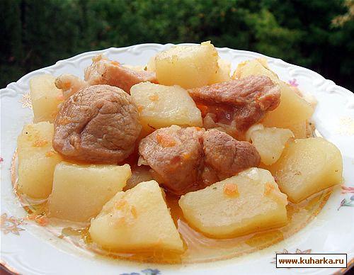 Рецепт Картошка тушенная с мясом