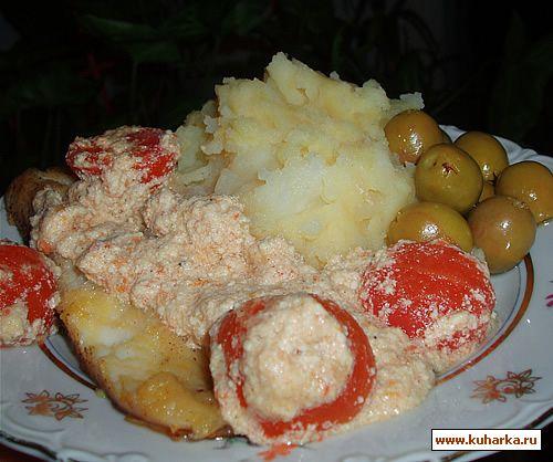 Рецепт Рыба под томатно-горчичным соусом