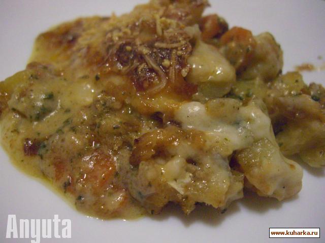 Рецепт Запечёная треска (Bacalhau gratinado)
