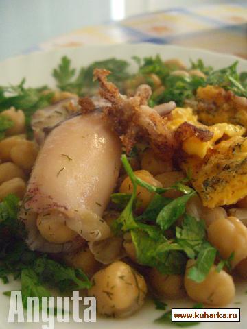 Рецепт Горох нут с кальмарами ( Garbanzos con calamares)