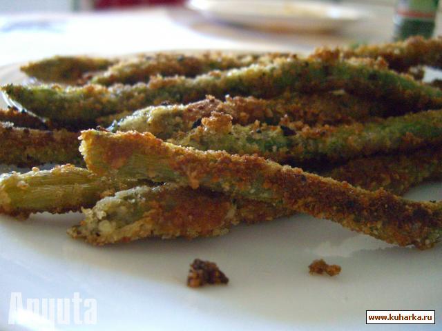Рецепт Спаржа в кляре с пармезаном и миндалью