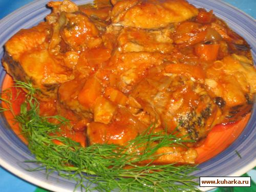 Рецепт Щука в томатном соусе