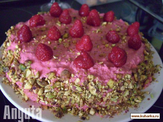 Рецепт Клубничный торт с фисташками (Cupula de fresa con pistachos)