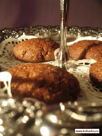 """Рецепт """"Ореховое печенье с какао и ромом"""" от Карины"""