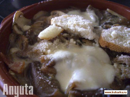Рецепт Грибное жаркое с сыром (Cazuela de setas al queso)