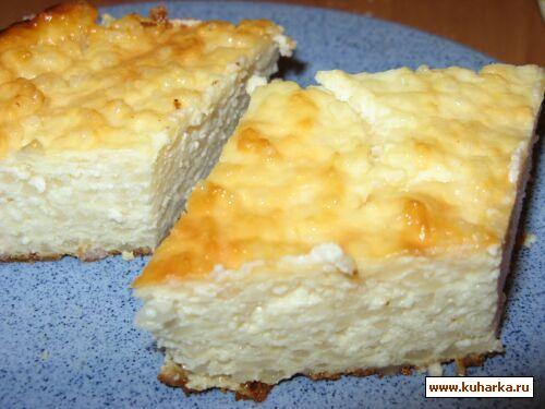 Рецепт Творожная запеканка с рисом