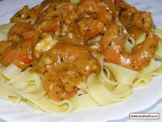 Рецепт Макароны с креветочным соусом
