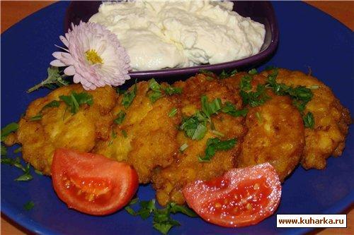 Рецепт Оладушки с куриной грудинкой и кукурузой