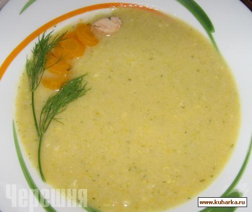 Рецепт Капитанский суп-пюре из семги.