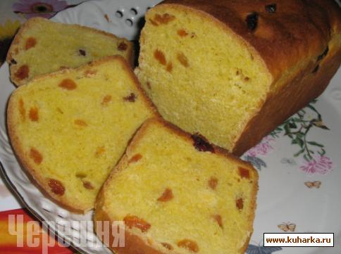 Рецепт Тыквенный сладкий хлеб