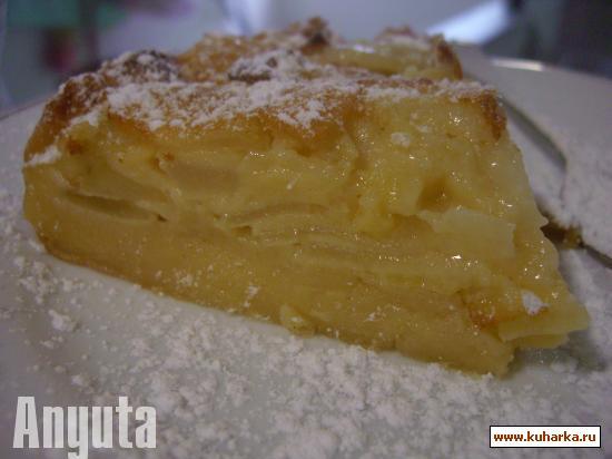 Рецепт Бисквит с грушей и яблоком (Bizcocho de peras y manzanas)