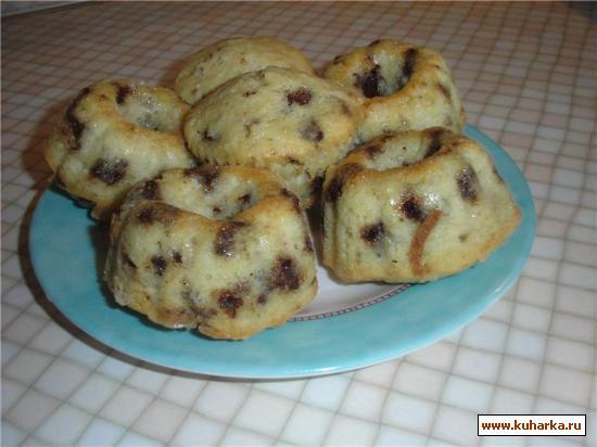 Рецепт Маффины с кусочками шоколада