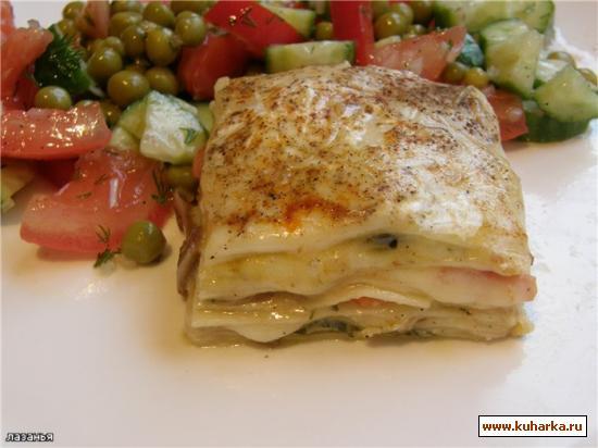 Рецепт Лазанья вегетарианская