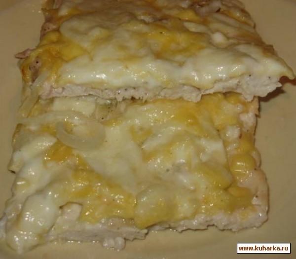 Куриное филе с сыром и майонезом в духовке рецепт с пошагово