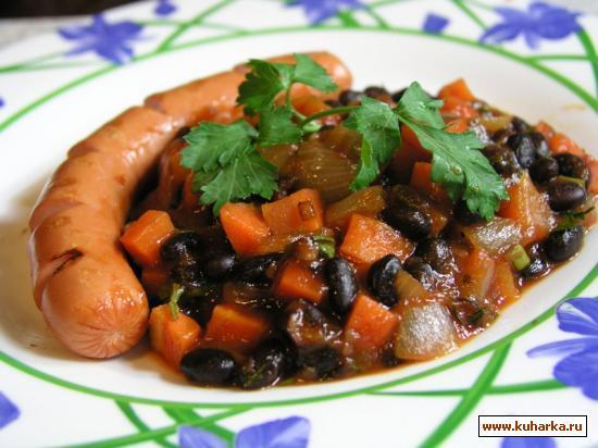 Рецепт Фасоль с овощами в томате